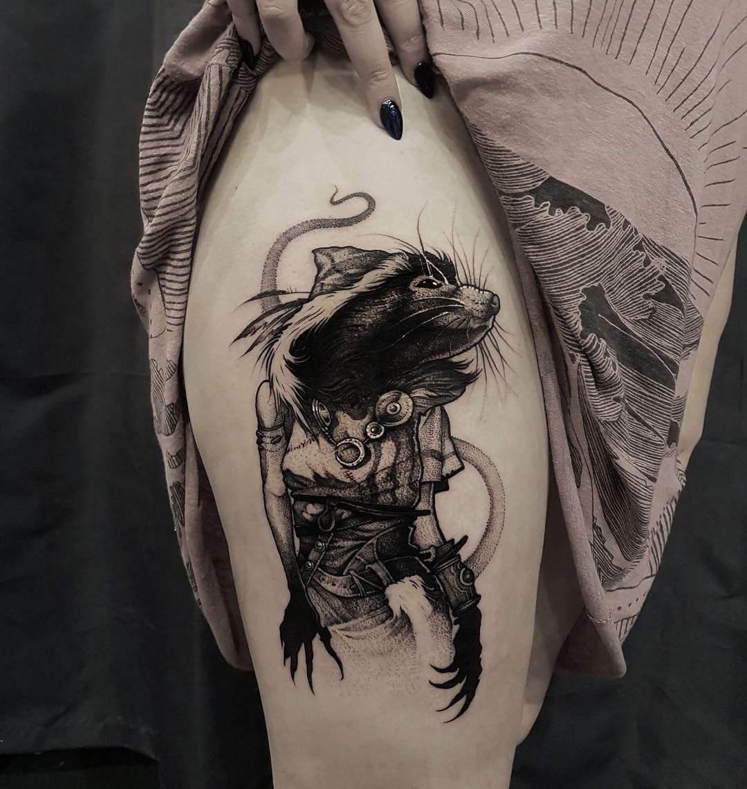 属兔的人纹身_生肖纹身大全:属鼠的人纹身什么好?21幅图案推荐 - 广州纹彩刺青